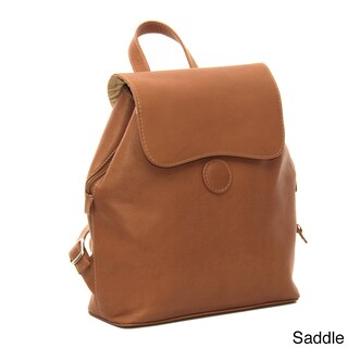 Piel Leather Flap-Over Button Backpack (3 options available)