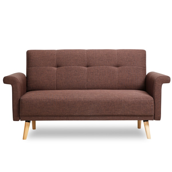Fabric Furniture: Shop Adeco Fabric Mid-century Style Sofa