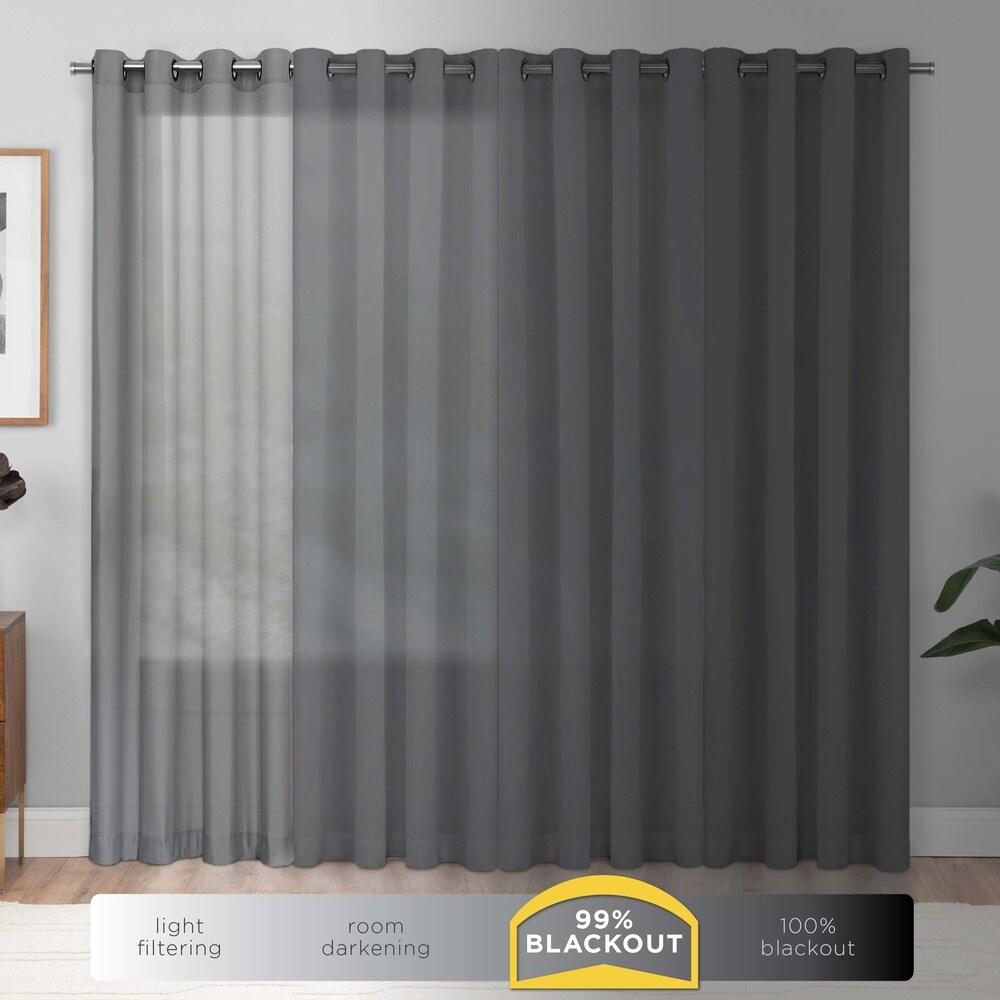 Shop Eclipse Cassidy Blackout Grommet Window Curtain Panel - 10995979