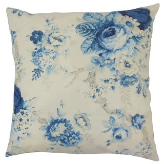 Ilithya Floral Down and Feather Filled 18-inch Throw Pillow