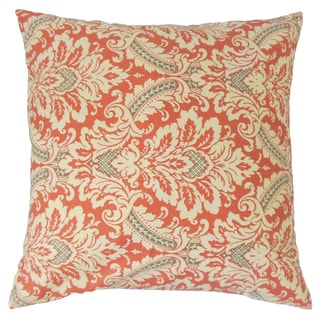 Jasmijn Damask Down and Feather Filled 18-inch Throw Pillow