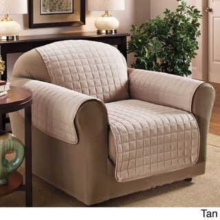 Luxury Quilted Furniture Protector for Chair in Chocolate (As Is Item)