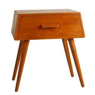Porthos Home Brooklyn Mid-Century Walnut Side Table