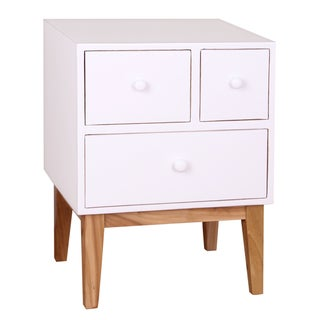 Porthos Home Zooey Modern 3-Drawer Side Table