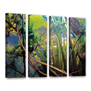 ArtWall Ed Shrider's Lake Hope UW #7, 4 Piece Gallery Wrapped Canvas Set