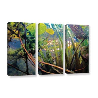 ArtWall Ed Shrider's Lake Hope UW #7, 3 Piece Gallery Wrapped Canvas Set