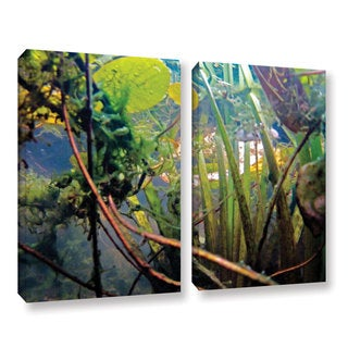 ArtWall Ed Shrider's Lake Hope UW #7, 2 Piece Gallery Wrapped Canvas Set