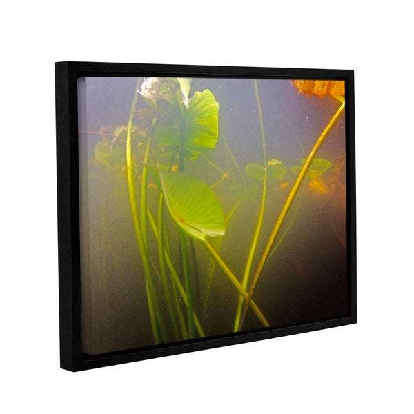 ArtWall Ed Shrider's Lake Hope UW #5, Gallery Wrapped Floater-framed Canvas