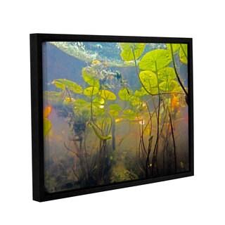 ArtWall Ed Shrider's Lake Hope UW #1, Gallery Wrapped Floater-framed Canvas