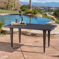 Dominica Outdoor Rectangle Wicker Dining Table (ONLY) by Christopher Knight Home