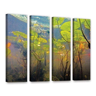 ArtWall Ed Shrider's Lake Hope UW #1, 4 Piece Gallery Wrapped Canvas Set