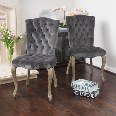 Moira Velvet Dining Chair (Set of 2) by Christopher Knight Home