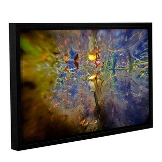 ArtWall Ed Shrider's Lake Hope Abstract #1, Gallery Wrapped Floater-framed Canvas