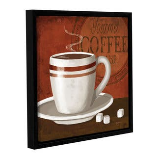 ArtWall Kathy Middlebrook's Gourmet Coffee, Gallery Wrapped Floater-framed Canvas