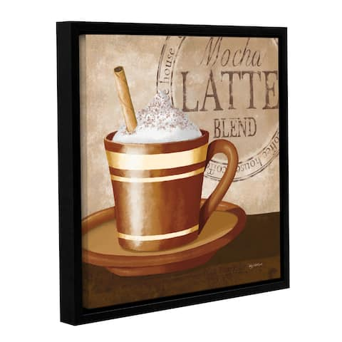 ArtWall Kathy Middlebrook's Mocha Latte, Gallery Wrapped Floater-framed Canvas