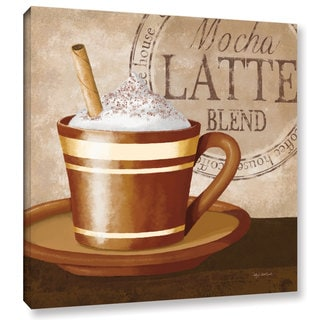 ArtWall Kathy Middlebrook's Mocha Latte, Gallery Wrapped Canvas
