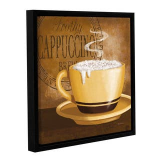 ArtWall Kathy Middlebrook's Frothy Cappuccino, Gallery Wrapped Floater-framed Canvas