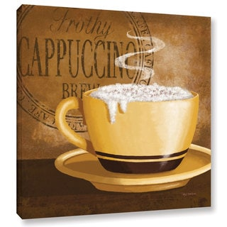 ArtWall Kathy Middlebrook's Frothy Cappuccino, Gallery Wrapped Canvas