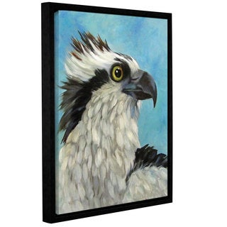 ArtWall Cheri Wollenberg's Osprey Eagle, Gallery Wrapped Floater-framed Canvas