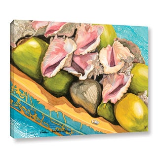 ArtWall Evelyn Jenkins Drew's Conch Shells And Coconuts, Gallery Wrapped Canvas