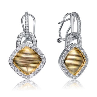 Collette Z Sterling Silver Diamond-Gold Color Plating Earrings