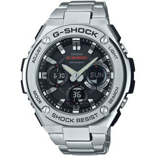 Casio G-Shock Men's GSTS110D-1A Analog-Digital Dial Stainless Steel Bracelet Watch|https://ak1.ostkcdn.com/images/products/10996474/P18016178.jpg?impolicy=medium