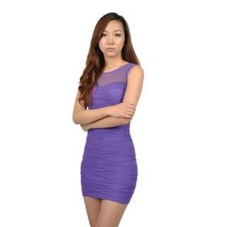 Soho Junior Horizontally Textured Wave Lines Dress