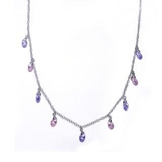 Collette Z Sterling Silver Multi-Coloured Gem Stones Necklace