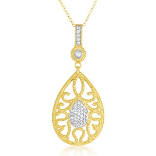 Collette Z Sterling Silver Mini Cubic Zirconia With Gold Pendant