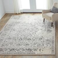 Brently Ivory/ Charcoal Rug (5'3 x 7'7)