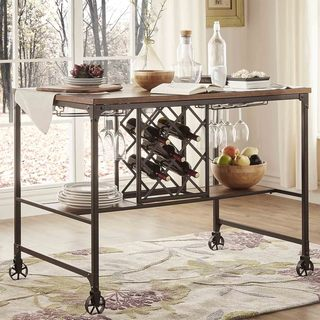 TRIBECCA HOME Berwick Iron Buffet with Wine Storage