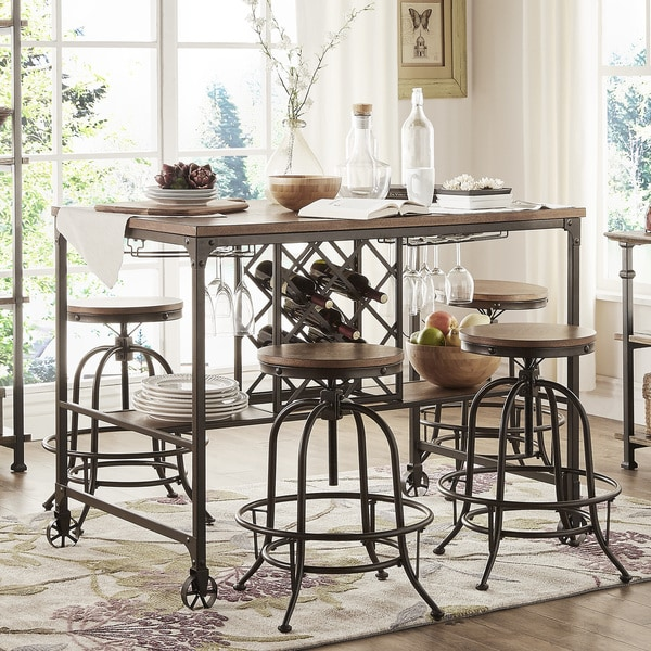 Pub Style Dinette Sets: Berwick Industrial Style Counter-height Pub Dining Set