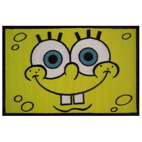 "SpongeBob Head Area Rug - 19"" x 29"""
