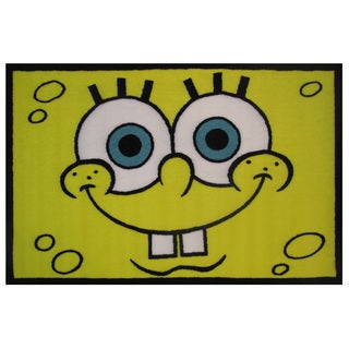 "SpongeBob Head Area Rug - 19"" x 29"""