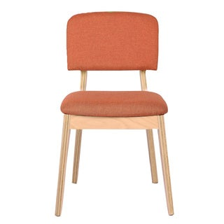 Adeco linen Top Bentwood Dining Mid-century Style Chair