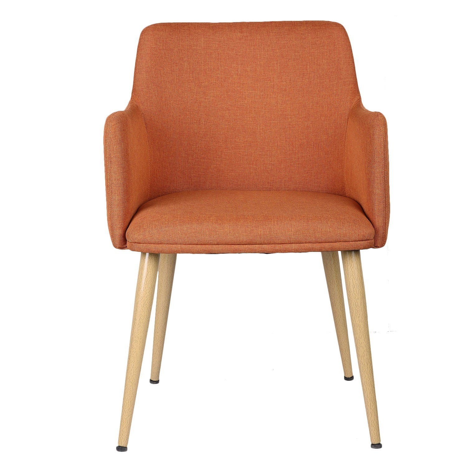 Adeco Linen Leisure Chair (Orange)