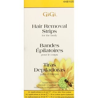 Gigi Hair Removal Strips for Body (Pack of 12)