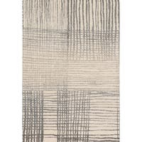 "Brently Ivory/ Grey Abstract Rug (5'3 x 7'7) - 5'3"" x 7'7"""