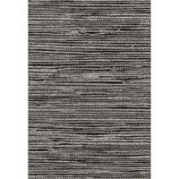 Brently Grey/ Black Stripe Rug (7'7 x 10'6)
