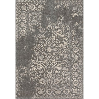 "Brently Charcoal/ Ivory Rug - 7'7"" x 10'6"""