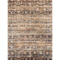 Traditional Sand/ Multi Floral Distressed Rug - 9'6 x 13'