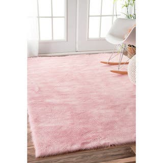 Silver Orchid Rus Cozy Soft And Plush Faux Sheepskin Kids Nursery Pink Rug 8