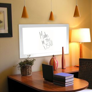 American Made Rayne White Satin Wide Dry Erase Board (More options available)