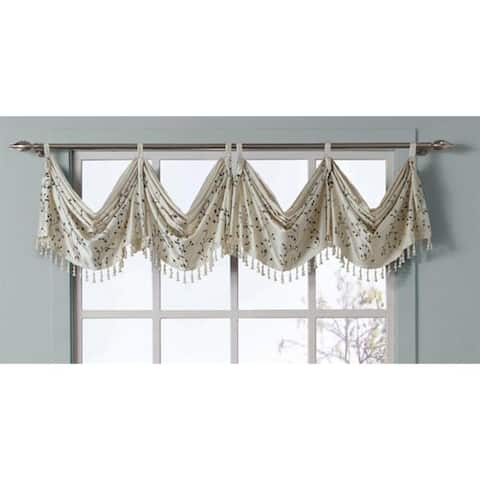 VCNY Felice Embroidered Valance