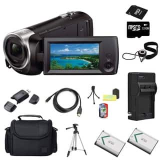 Sony HDR-CX240 Camcorder Black 32GB Bundle|https://ak1.ostkcdn.com/images/products/10996685/P18016432.jpg?impolicy=medium