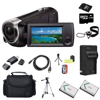 Sony HDR-CX240 Camcorder Black 32GB Bundle