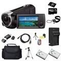 Sony HDR-CX240 Camcorder Black 32GB Bundle