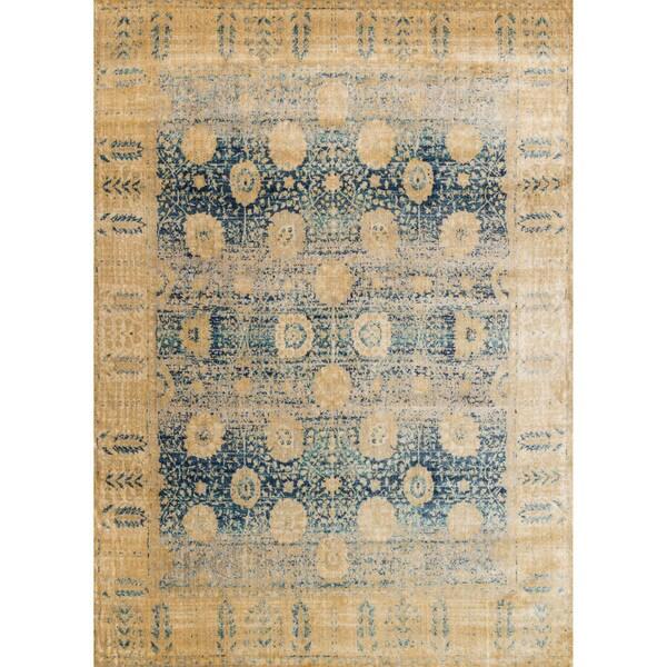Contessa Blue/ Gold Rug (2'7 x 4')