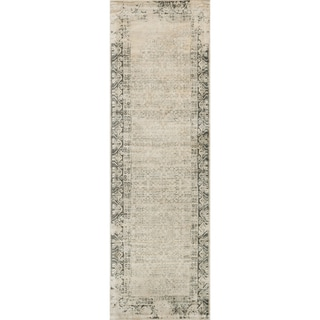 Francis Ivory/ Charcoal Runner Rug (2'4 x 7'9)