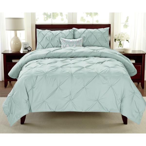 Laurel Creek Audrey 3-piece Pintuck Comforter Set